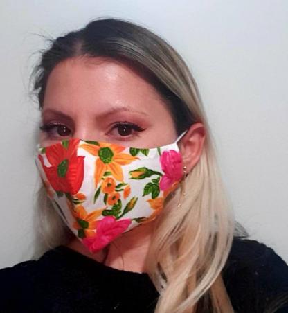 Summer floral print masks with filter pocket face mask