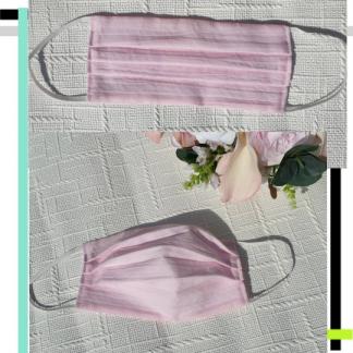 pink with filter pocket face mask