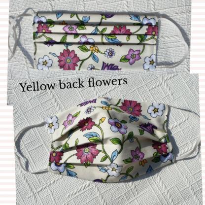 floral print masks with filter pocket face mask