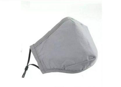 grey face masks with filter pocket